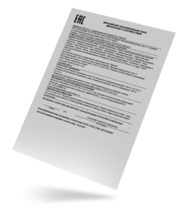 декларация ТР ТС образец